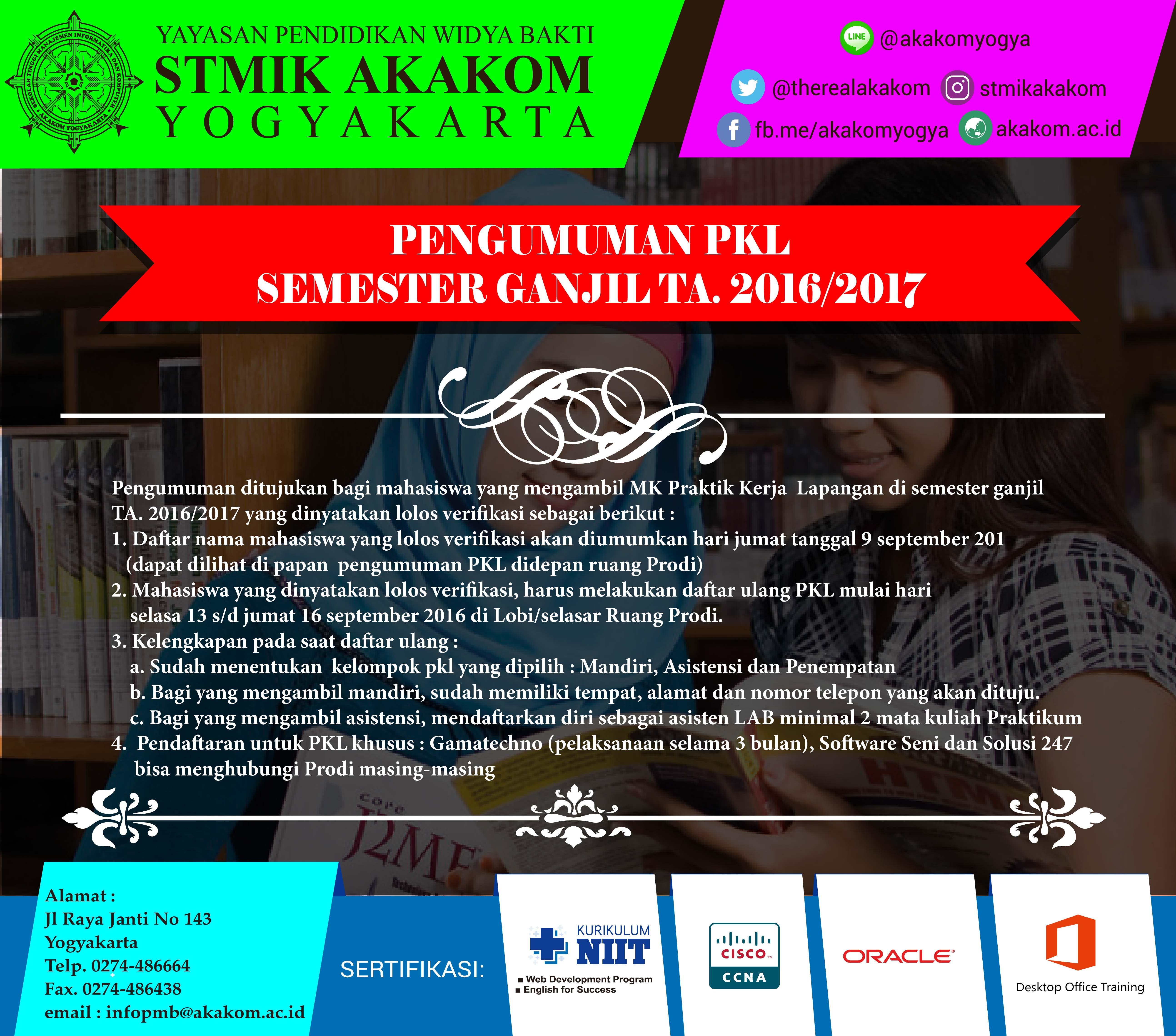 Pengumuman PKL Semester ...