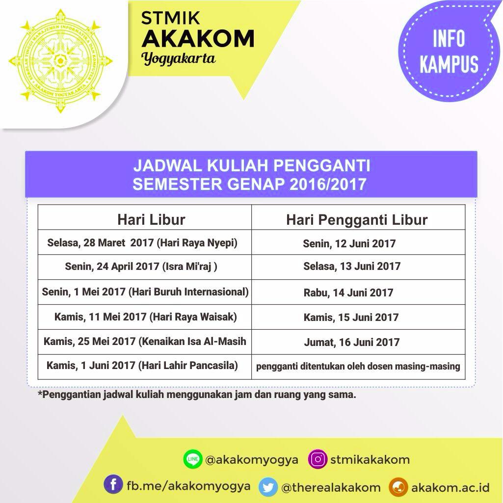 Info Penggantian Jadwal ...